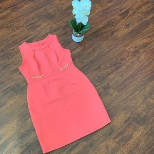 Tahari petite coral sheath dress size 8